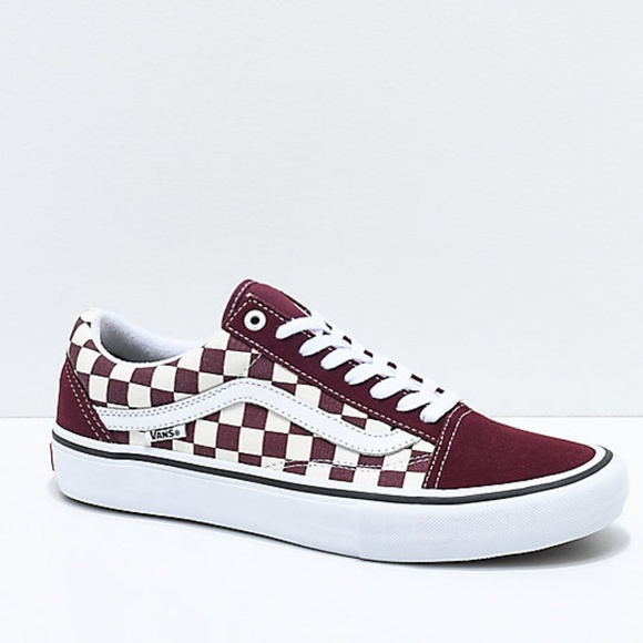 5c34ce731e Vans Old Skool Pro Port Royal Checkered Skate Shoe.  M 5bf4888b7386bc947053dd6a